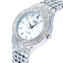 GLE & VDO XQ037 G & D Relógios Das Mulheres de Prata Senhoras Pulseira Relógios Moda Casual relógios de Pulso de Quartzo relogio feminino