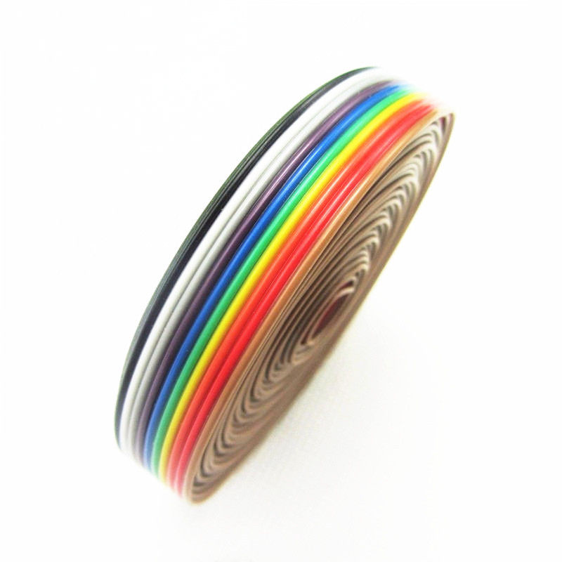 5M <font><b>10</b></font> <font><b>Pin</b></font> Rainbow Color <font><b>Flat</b></font> Ribbon IDC Wire <font><b>Cable</b></font> <font><b>Flat</b></font> <font><b>Cable</b></font> <font><b>10</b></font> <font><b>Pin</b></font> Flexible <font><b>Flat</b></font> <font><b>Cable</b></font> image