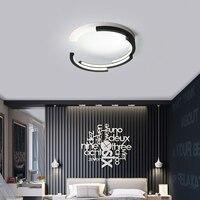 Modern LED Luz de Teto para Sala de Controle Remoto Design Criativo Círculo Decoração Da Lâmpada Luminária de Teto Pode Ser Escurecido|Luzes de teto| |  -