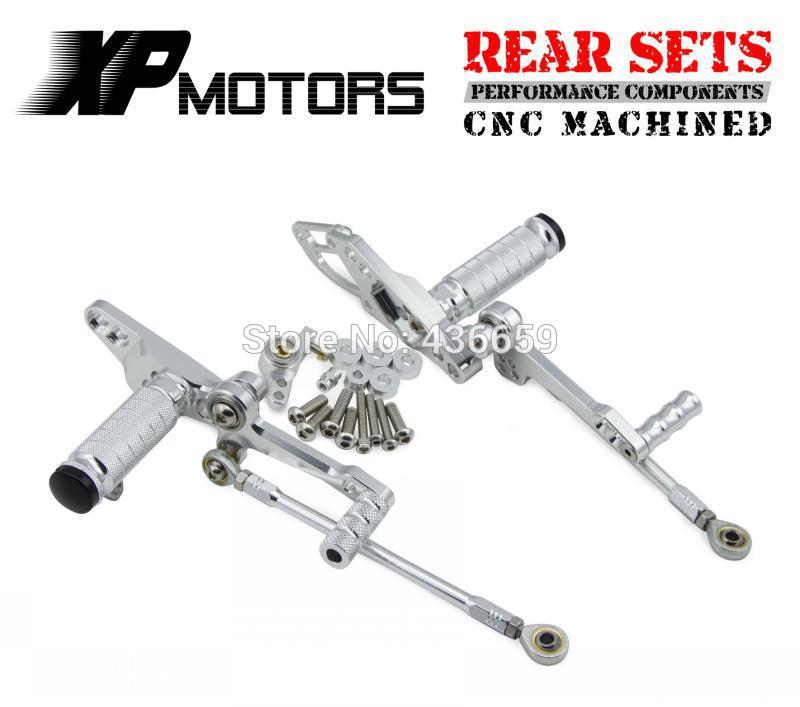 Motorcycle Adjustable Foot Pegs Racing Foot Control Rear Sets For Ducati StreetFighter 1098 2009 2010 2011 2012 Silver