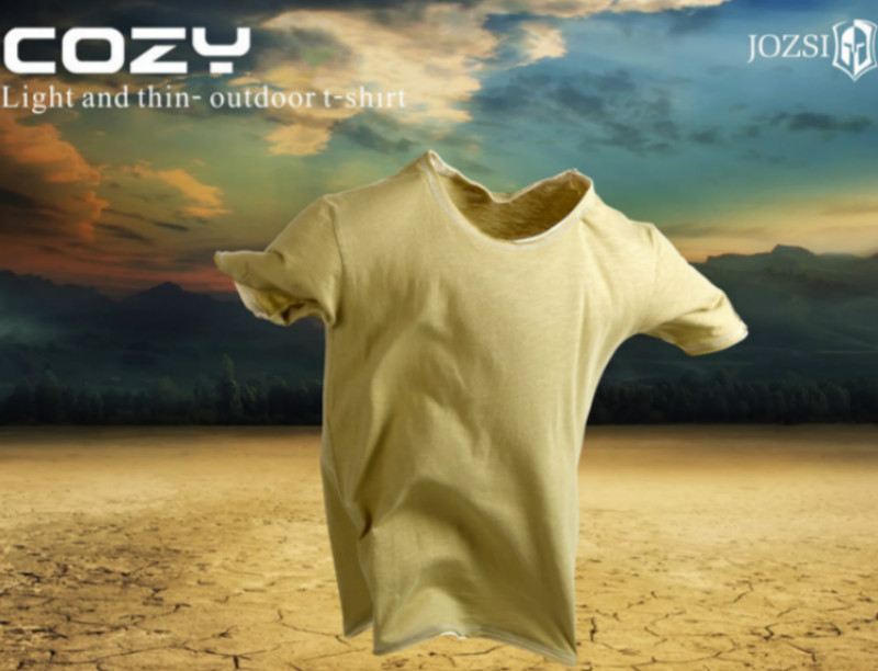 JOZSI New T-shirt Men Short Sleeve Rock Casual  100% Cotton Breathabel Tshirt Coolmax Tops