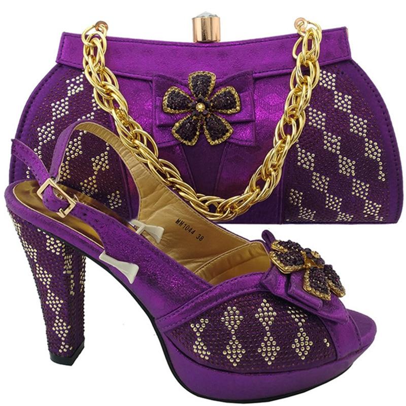 Chaussures Rouge lemon pourpre Teal Green Sac Strass Africaine Rutilant Pour Femmes Italiennes Décoré Couleur Avec Ensemble Partie argent Africaines Royal bleu rouge or Et TqSqwdIH