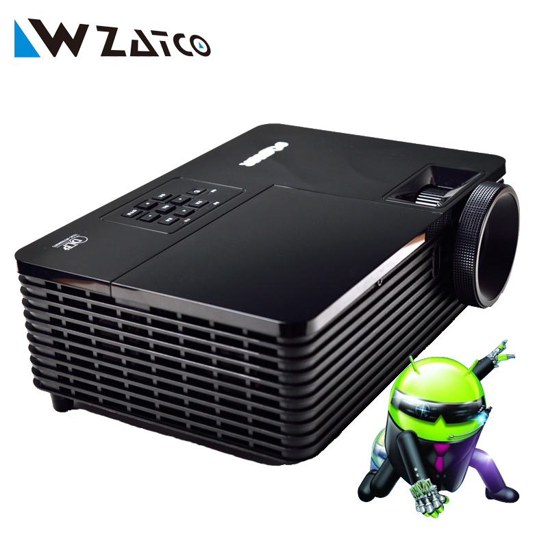 5500ANSI lumens Android 4.4 Miracast wifi-display home theater Daylight HDMI 1080p full HD 3D DLP Projector Proyector beamer