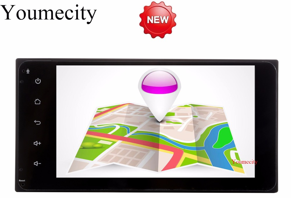 Youmecity 2G RAM Android 8.1 Car DVD Video Player GPS Radio for Toyota Ractis allion Camry Avensis Auris Prius Yaris highlander 18 smd led license plate light bulb for toyota camry xv40 yaris xp10 echo prius nhw11 previa ipsum avensis verso