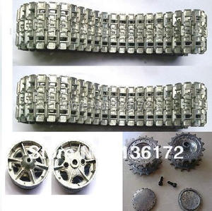 Henglong 3878/3878-1 1/16 RC tank upgrade parts metal driving wheels and metal track for heng long rc tank 1:16