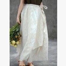 Новые товары, указанные летом года, дизайн, высококачественные свободные женские юбки из хлопка и льна