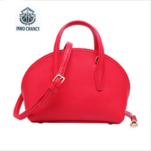 2017 New Top Nylon Inho Chancy ! Handbag Women Famous Brands Mini Shell Bag Lychee Pattern Simple Leather Shoulder Messenger