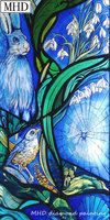 Stained Glass Animal Pattern Full & Round 5d Diy Diamond Painting Bird Cross Stitch 3D Diamond Embroidery Sewing Artwork