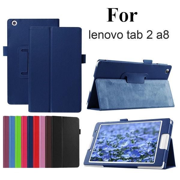 Kaitsekott Folio PU nahast kaitseümbris Lenovo Tab 2 A8-50LC Litchi - Tahvelarvutite tarvikud - Foto 2