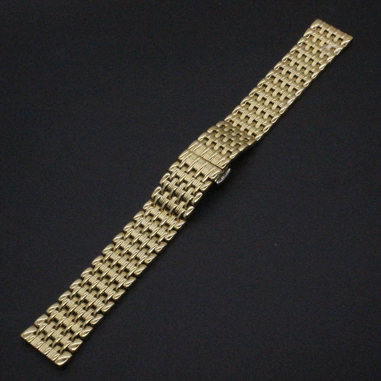 Gold Watchband for Luxury Watches Brand Stylish Watches Accessories 18mm 20mm 22mm Fashion Thiner Bracelets Promotion