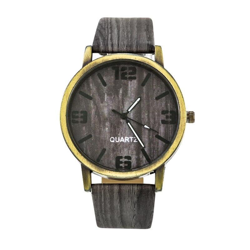 Wood Stripe Pattern Wrist Watch