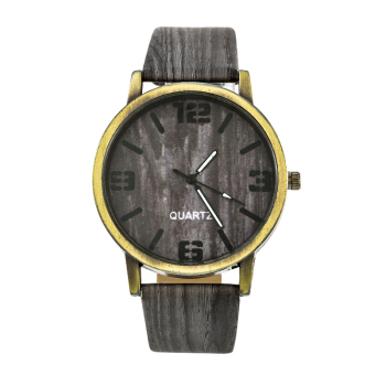 Wood Stripe Pattern Wrist Watch