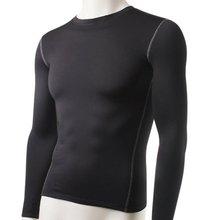 Модные зимние для мужчин Slim Fit с длинным рукавом термальность нижнее бельё для девочек одноцветное Топы корректирующие