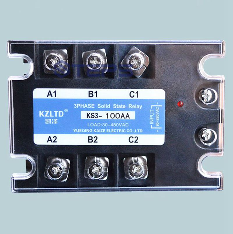 цена на Three-phase solid state relay 100A AC to AC 380v explosion-proof non-contact solid contactor relay