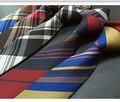 CityRaider Estrenar Plaid Flaco Corbatas de Seda Para Los Hombres de La Boda Necties corbata 2016 New Ties 6 cm de Los Hombres Delgado Masculino Corbata LD076