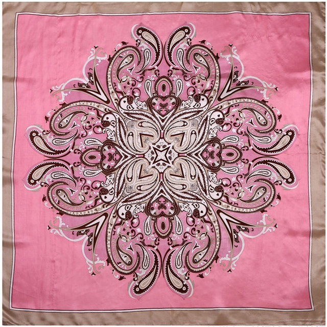 Paisley Middle Silky Foulard | Lightweight Scarves