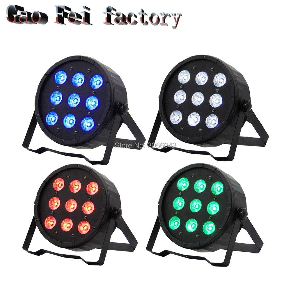 2PCS/LOT 9x12w led Par lights RGBW 4in1 7 professional stage dj equipment 2pcs lot hyb18t1g800af 3 7