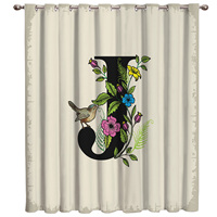 Letter J Vintage Envelope Living Room Curtain Rod Bathroom Outdoor Drapes Curtain Panels With Grommets Outdoor Curtains Valance