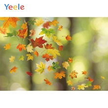 Yeele landscape Forest Red Maple Leaves Bokeh Light Photography Backdrops Personalized Photographic Backgrounds For Photo Studio
