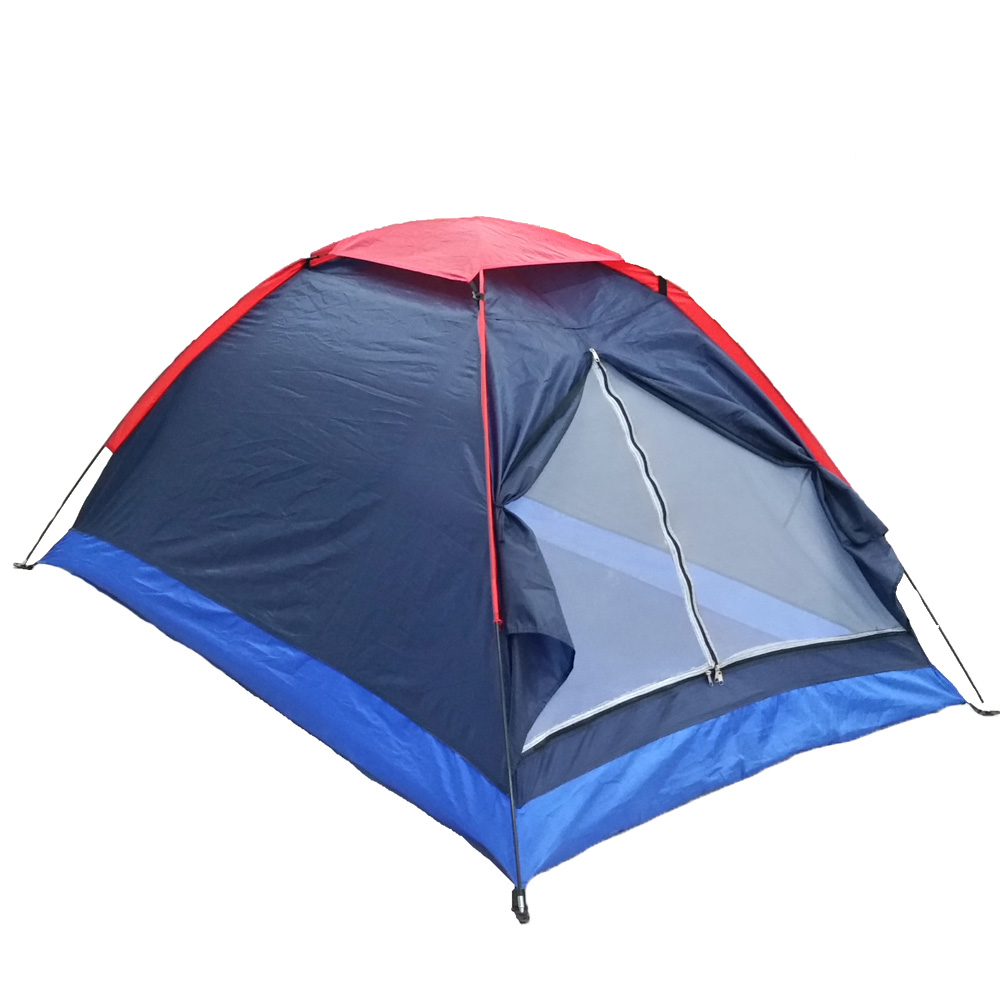 2 Persons Camping Tent Single Layer Beach Tent Outdoor Travel Windproof Waterproof Awning Tent Summer Tent with Bag RU Stock