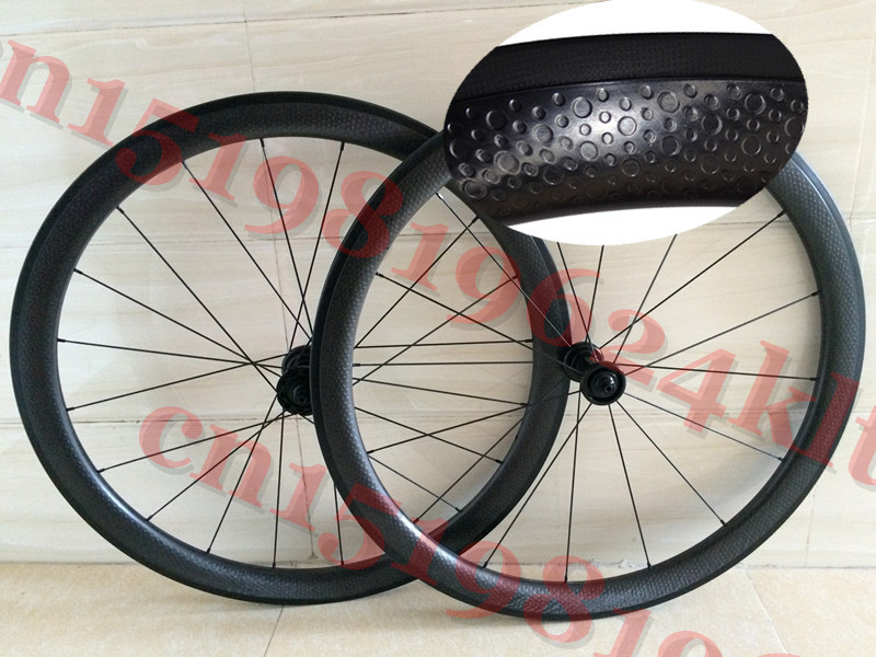 Dimple Surface 45mm UD Wheels Clincher Carbon Wheelsets Bicycle Road Bike Dimples Wheels Matt free