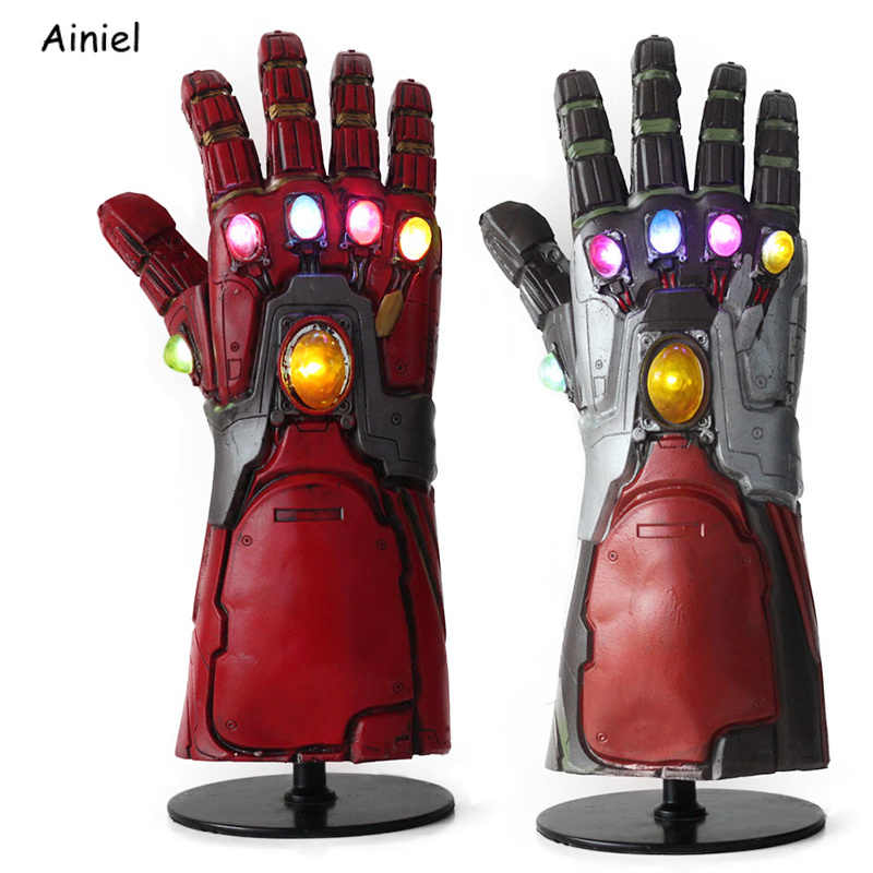Avengers End Game Iron Man Handschoenen Infinity Gauntlet Cosplay Hulk Thanos Handschoenen Armen Latex Masker Superhero Party Wapen Props