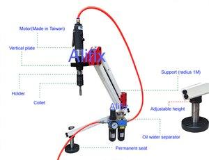 Image 2 - En kaliteli dikey evrensel esnek pnömatik kılavuz çekme makinesi kol Collet M3 M12 6 adet penset