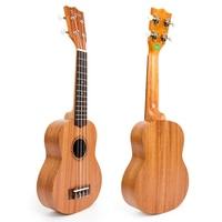 Kmise Sapele Soprano Ukulele Ukelele Uke 21 Polegada 12 Trastes Cordas Aquila 4 Cordas Guitarra Hawaii