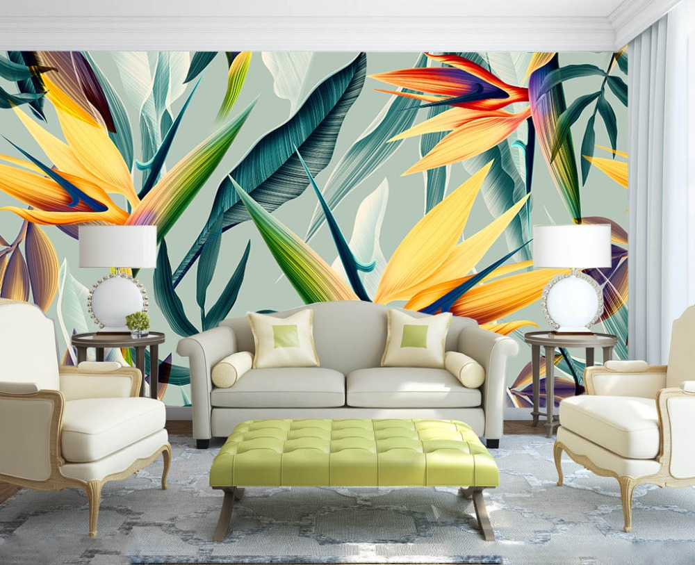 [Self-Adhesive] 3D Tropical Flower Plant 32 Wall Paper Mural Wall Print Decal Wall Murals