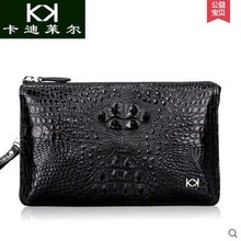 KADILER 2017 new hot free shipping real Crocodile male bag hand bag luxury leisure male bag high-capacity leather wallet