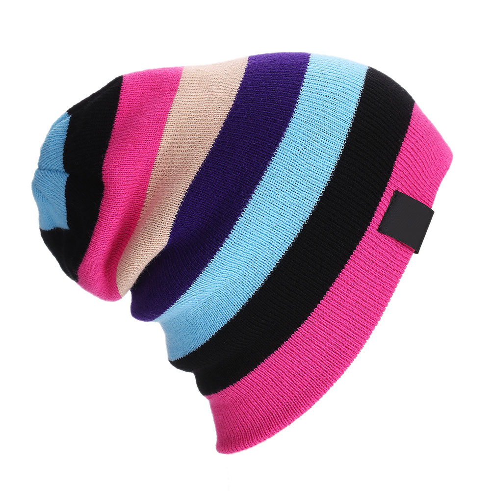 Women/Men Bonnet Beanies Knitted Caps Skullies Winter Hats Hip Hop Outdoor Ski Sports Rainbow Beanie JL 2016 winter women beanie adults hip hop hats diamond vogue men hats knitted ski skullies bonnet crochet casquette gorros de lana