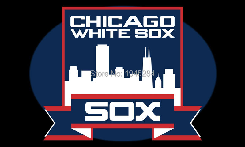 MLB Chicago White Sox City Skyline Flag Banner 002 Size 3x5ft 90x150cm New Polyester 8802, free shipping