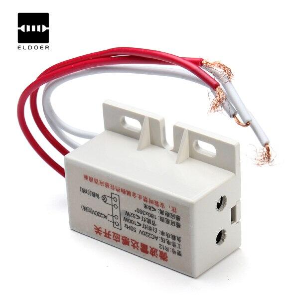 Teamdewhole Technology Co., Ltd. New 220V IR Infrared Module Sensing Microwave Radar Body Sensor Switch Delay Distance Is Adjustable Suitable hidden installation