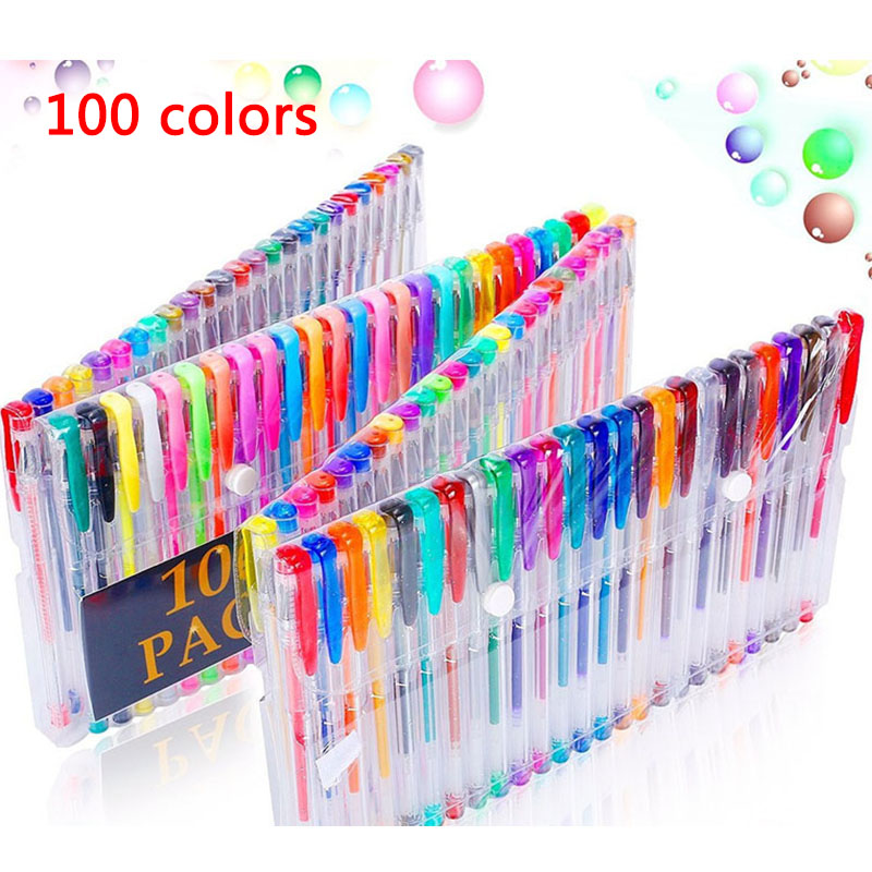 Peerless 1pc 0.8mm Rainbow Gel Pen Multi Color Roller Pens Fluorescence Highlighter For Black Paper Stationery School Supplies Selling Well All Over The World Gel Pens Office & School Supplies