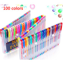 100 colors/set Color Gel Ink Pens, The Best Gel Pens Set for Adult Coloring Books, Draw, and Write 0.5mm