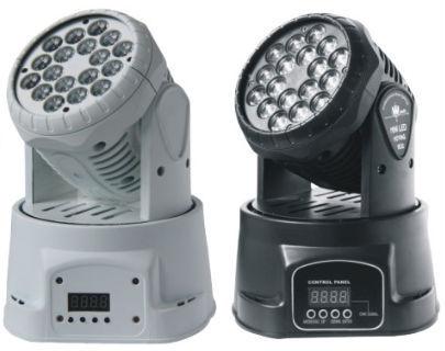 Jälleenmyyjä, joka mainostaa RGW 18X3W Mini LED -juhlia liikkuvia päänpesuvaloja Kotijuhla Disco Strobe-himmenninvalaisimet 3kpl / erä, kirjoittanut DHL
