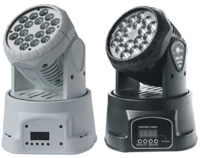 Dealer Promoting RGW 18X3W Mini LED Party Moving Head Wash Lights Home Party Disco Strobe Dimmer Effect Lamps 3pcs/lot by DHL