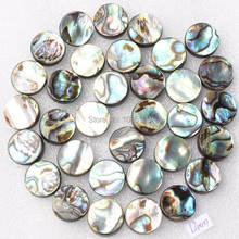 """Envío gratis 12 mm Pretty Natural de Shell del olmo de la fregona Coin forma suelta perlas capítulo 15 """" DIY creativo joyería fabricación w1950"""