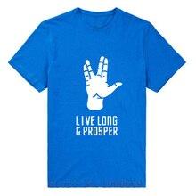 Summer New star trek spock live long and prosper T Shirts men Cotton Short Sleeve O Neck Camisa Masculina T-Shirt