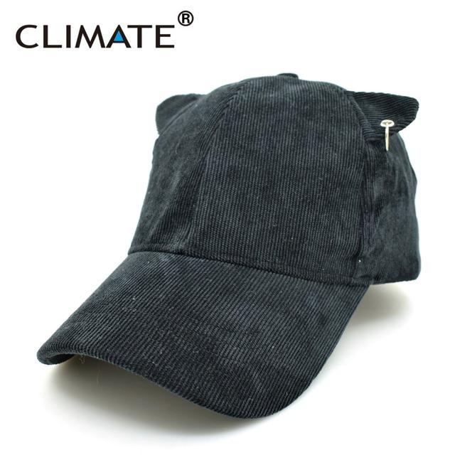 Climate pana única hierro aro lindo orejas calientes gorras de béisbol deporte ajustable sombreros para hombres mujeres unisex de color caqui negro