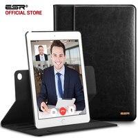 Case For For IPad Air2 ESR Premium PU Leather Business Folio Stand Case Organizer Pocket Smart