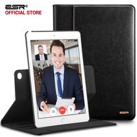 Case For For IPad Air2 ESR Premium PU Leather Business Folio Stand Case Organizer Pocket Smart