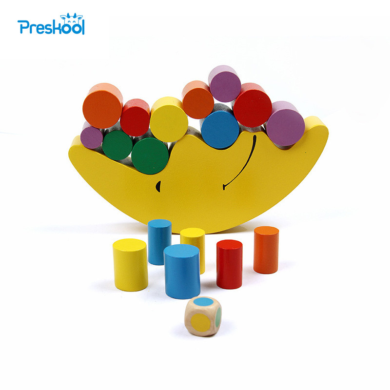 Moon Balancing Frame Baby Early Learning Toy Montessori Teaching Aids Moon Balance Colorful Early Development Wood Blocks Toys цена