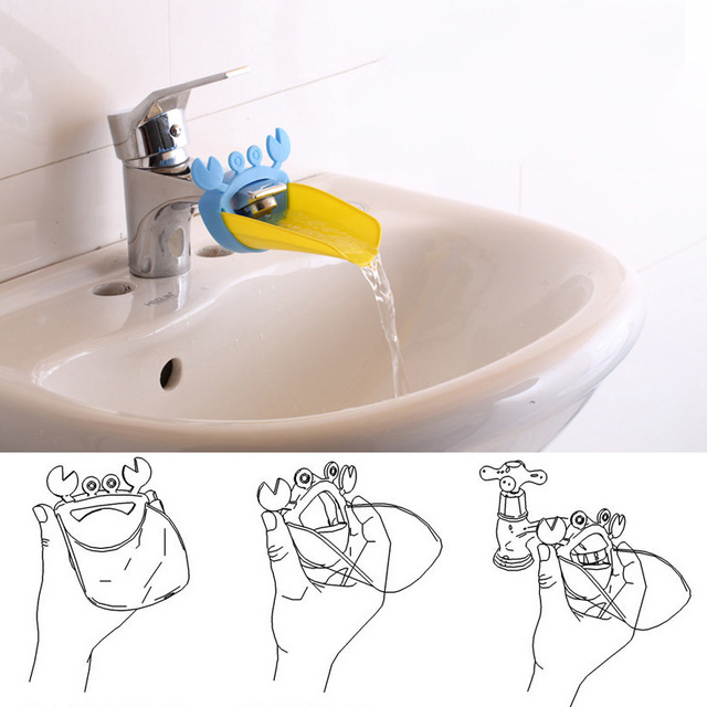 Bathroom Faucet Extender Children S Guide Sink Extension Cartoon Baby Hand Washing Device Accessories