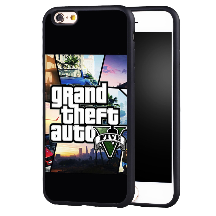Famous GTA grand theft auto 5 V phone case cover for Samsung Galaxy s4 s5 s6 S7 edge S8 plus note 2 3 4 5
