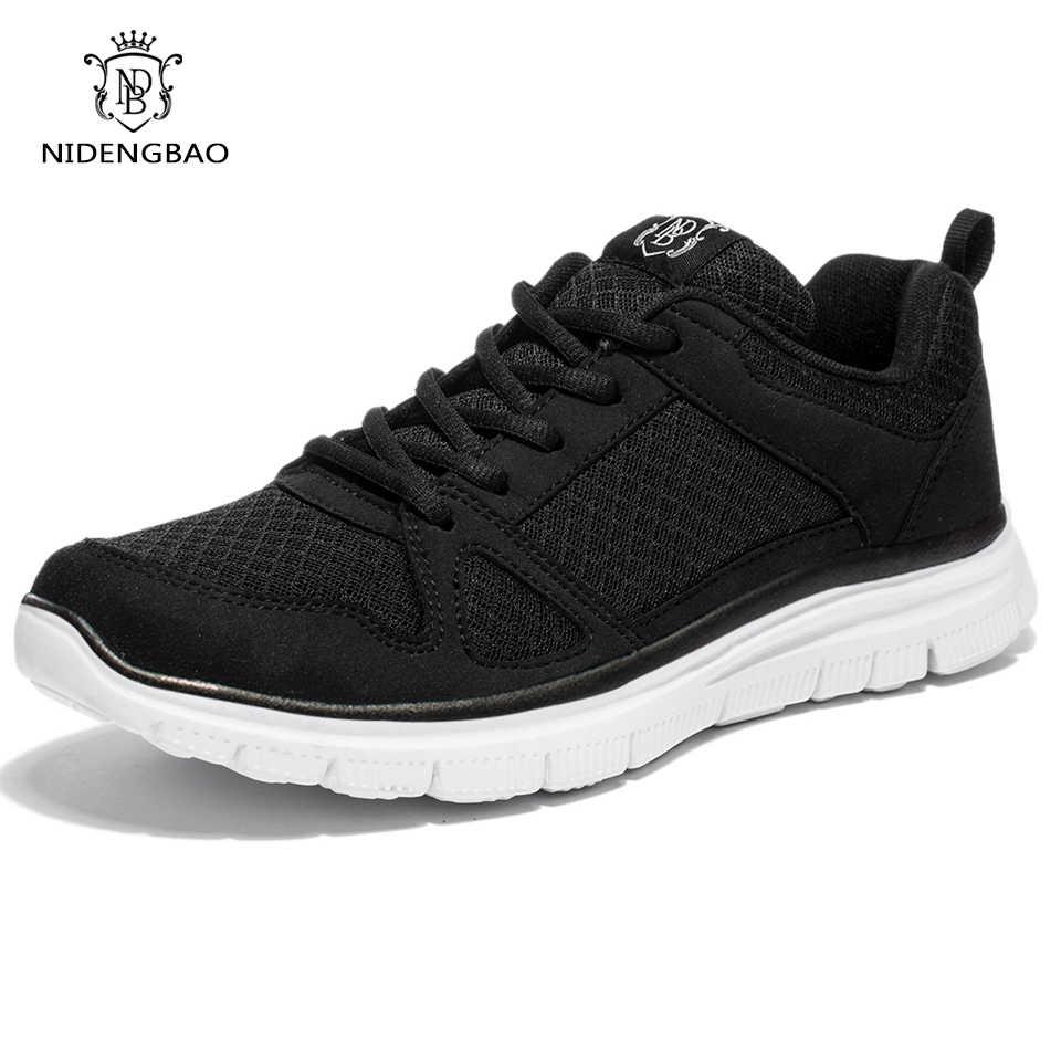e4a12c30 Летняя мужская повседневная обувь супер легкие дышащие мужские ботинки с  сеткой черная прогулочная обувь большой размер