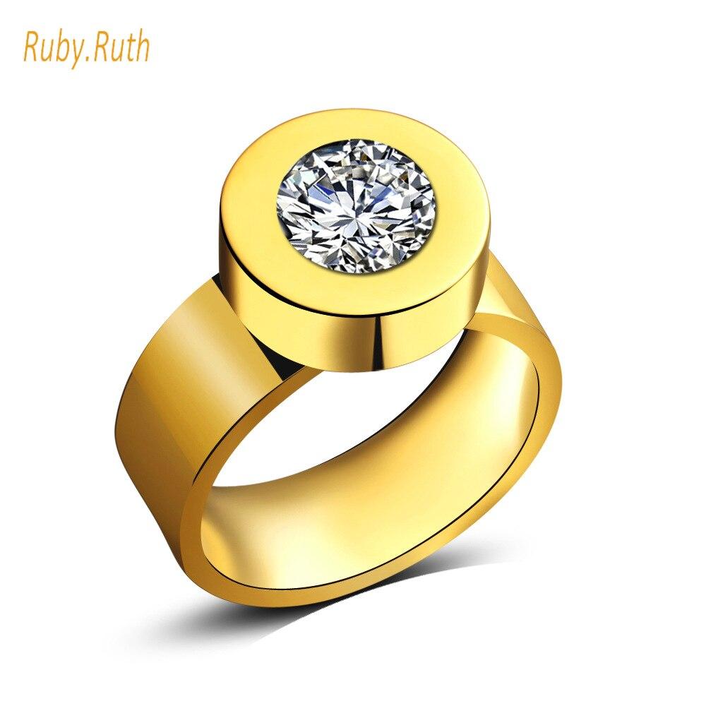Fashion Rings For Women Engagement Big Blue Crystal Stone Zircon Ring Women Wedding Bridal jewelry 2017