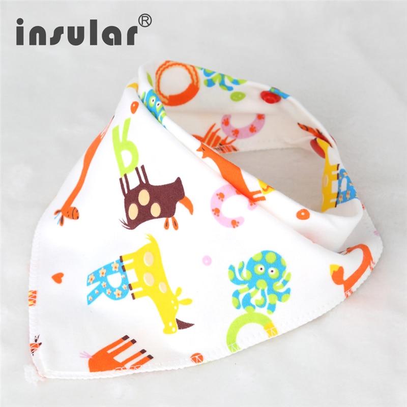 Cotton Triangle Baby Bibs Bandana Bib For Infant Saliva Scarf Cartoon Newborn Babador Baby Feeding Towel Toddler Burp Cloths