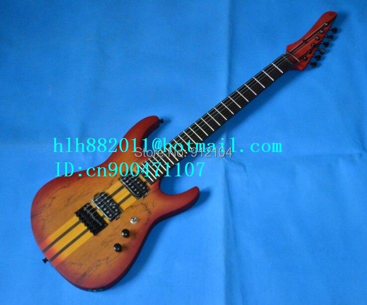 Livraison gratuite nouvelle guitare électrique Big John 6 cordes en jaune avec tous les sandwich simples à travers le F-1516 de corps d'orme de pont