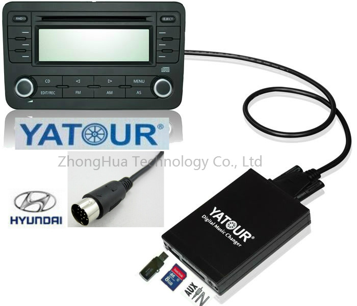 Yatour Digital Music Car Audio USB Stereo Adapter MP3 integration kit Player AUX Bluetooth for Hyundai/Kia interface CD Changer yatour car adapter aux mp3 sd usb music cd changer 8pin cdc connector for renault avantime clio kangoo master radios
